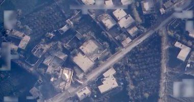 أول فيديو للضربة الجوية العراقية لمواقع داعش فى سوريا