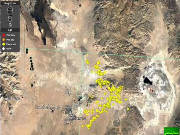 شاهد.. الأقمار الاصطناعية تكشف صدعًا عملاقًا بسطح الأرض بعد زلزال كاليفورنيا